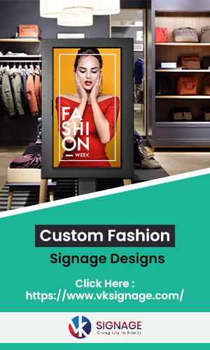 An Attractive Customized Digital Sign Board Design Advertisemnt In Fashion Retail Shopping Mall.